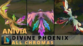 Divine Phoenix Anivia All Chromas - League of Legends