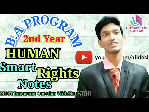 #1,B.A PROGRAM 2nd Year HUMAN RIGHTS Most Important Question||2nd year Human Rights notes,lpa Manish