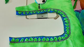 Easy And Stylish Blouse Design Cutting And Stitching||Blouse Back Neck Design