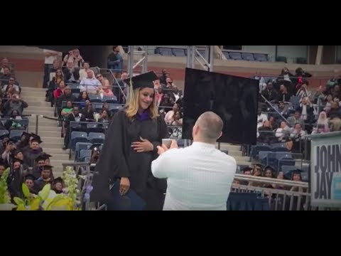 Staten Island guy proposes at college graduation