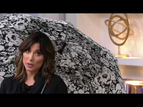 Tashon Printed Umbrella with Flashlight Handle on QVC