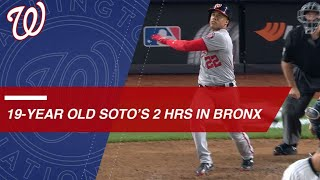 Juan Soto homers twice in Yankee Stadium, the youngest to do it since Ken Griffey Jr.