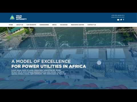Volta River Authority (VRA) Website Prototype