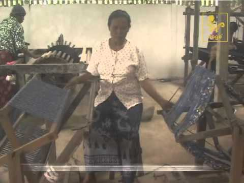 The making of traditional Balinese handwoven ikat fabric