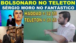 Bolsonaro no Teleton - Sérgio Moro no Fantástico - Ministério do Trabalho