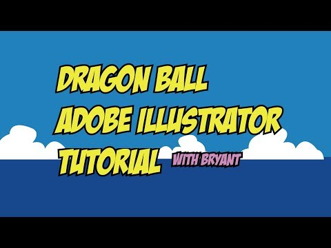 [Dragon Ball] Adobe Illustrator Tutorial and Workflow Example With Source Materials Included