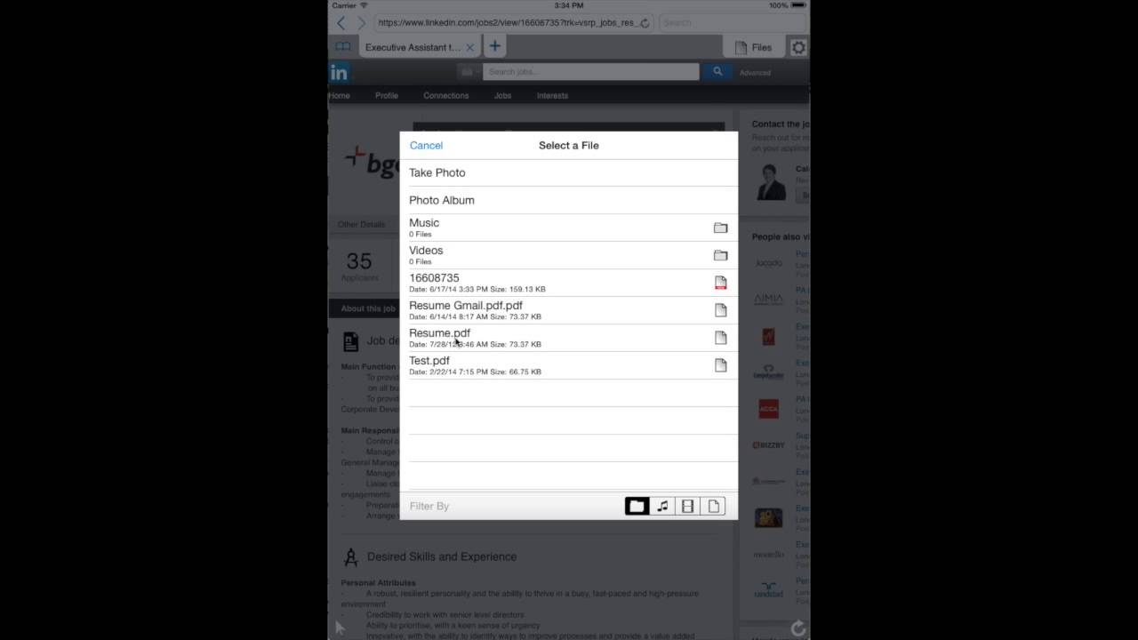 iuploader for ipad by recession apps uploading resume through