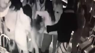 Момент кражи сотового телефона из заднего кармана