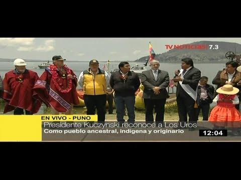 Declararan viable construcción de plantas de tratamiento del Titicaca y reconocen a los Uros