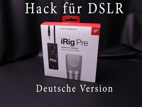 24,-€ iRig Pre Hack XLR für DSLR  Deutsche Version