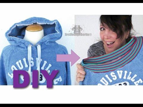 DIY Hoodie to sweater nähen umarbeiten firstloungeberlin