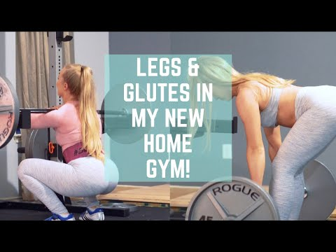 Full leg glute workout in my new home gym youtube