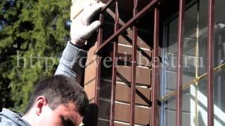 видео стальные оконные решетки