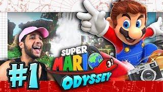 Super Mario Odyssey Part 1 & SWITCH GIVEAWAY -  Cap & Cascade Kingdom