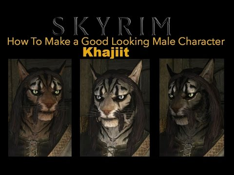 Skyrim Special Edition - How To Make a Good Looking Character - Khajiit  Male - No Mods