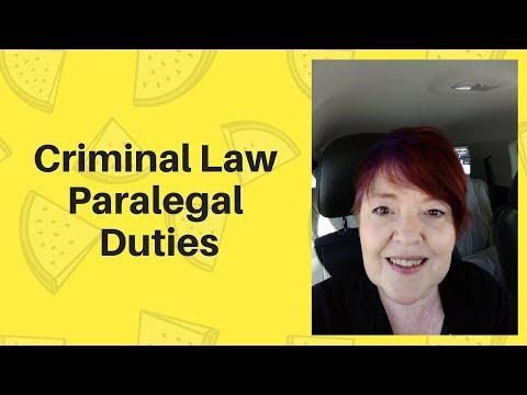 Criminal Law Paralegal Duties