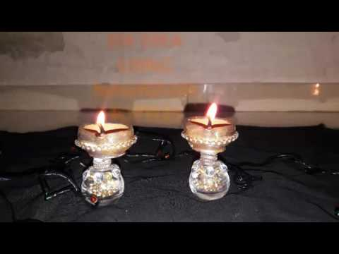 DIY diya using nailpolish bottles