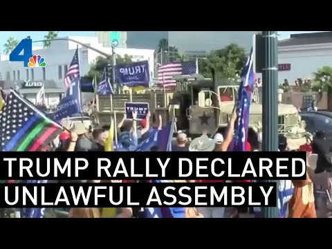 Unlawful Assembly Declared in Beverly Hills at Site of Pro-Trump Rally | NBCLA