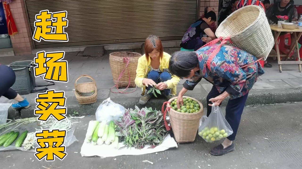 大姐今天赶场卖菜,生意还可以赚了三十块钱,高高兴兴的回家了【乡村大姐】