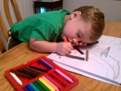 Intense toddler coloring YouTube
