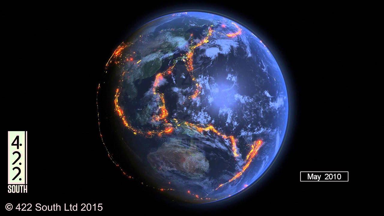 World earthquakes 2000 2015 data visualization youtube gumiabroncs Images