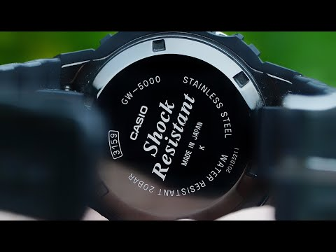 Casio 3159 Module - GW-5000 series test screen, function explanation, watch set up