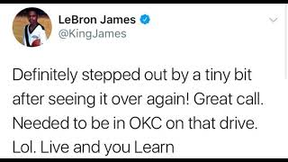 Lebron James admit to stepping out of bounds