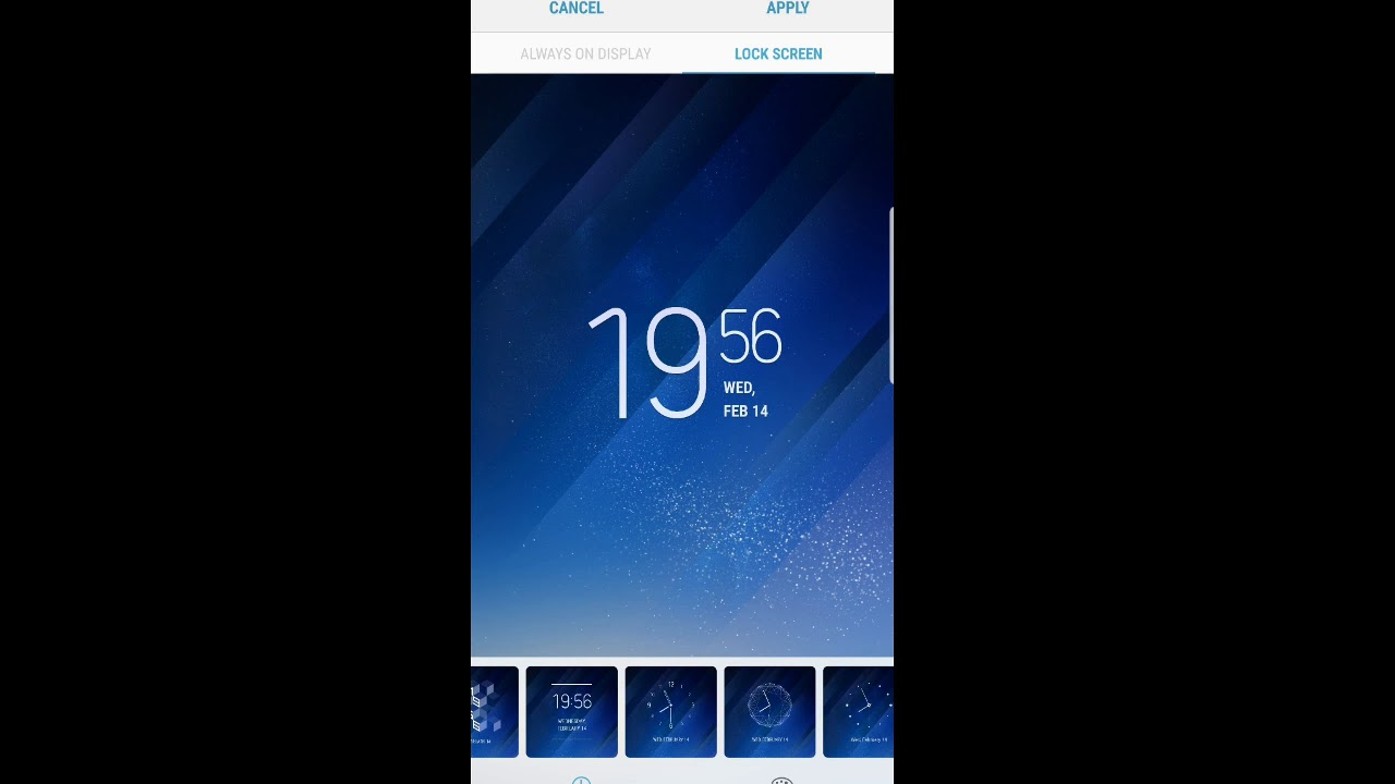 How to change clock style on lockscreen of samsung galaxy s8 with andoid 8  oreo