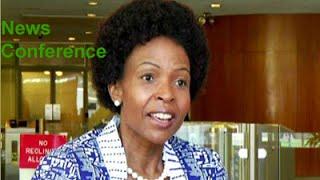 Maite Nkoana-Mashabane holds news conference