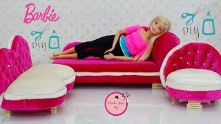 Video Barbie Şeker Pembesi Kadife Koltuk Takımı Nasıl Yapılır  Kendin Yap DIY download MP3, 3GP, MP4, WEBM, AVI, FLV November 2017