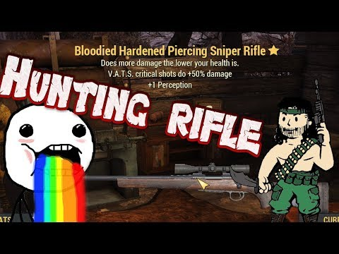 BLOODIED HUNTING RIFLE! || Weapon Showcase || Fallout 76