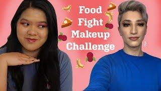 Thanksgiving Food Fight Makeup Challenge (fall makeup)
