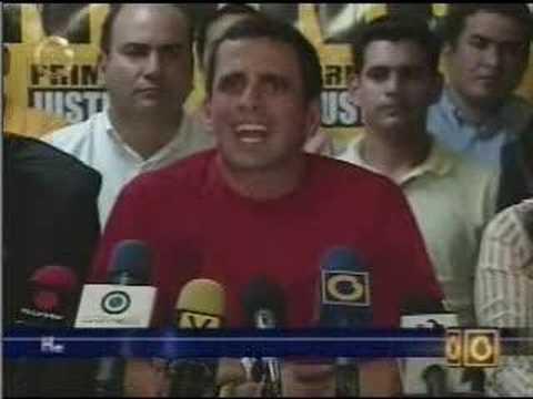 """Henrique Capriles llamó """"mentirosa"""" a Luisa Estell..."""