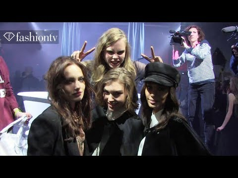 Cara Delevingne & Joan Smalls at the H&M Paris Fashion Week After Party | FashionTV