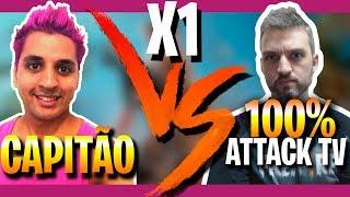 X1 COM YOUTUBERS: CAPITÃO MARULHO x 100% ATACK TV