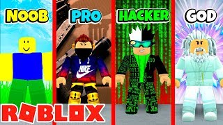 ROBLOX BATTLE! NOOB VS HACKER VS PRO VS GOD! Roblox