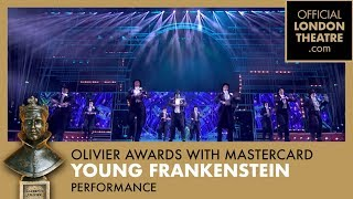 """Young Frankenstein """"Puttin On The Ritz"""" performance at the Olivier Awards 2018 with Mastercard"""