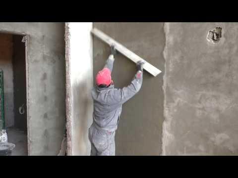 Как сделать самому цементную штукатурку