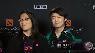 rOtk Interview after Winning vs EG ti4