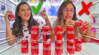 NÃO ESCOLHA A COCA COLA ERRADA! SLIME CHALLENGE - JULIANA BALTAR