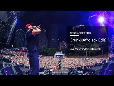 Crunk (Afrojack Edit) v/s Afrojack : Give Me Everything (Tonight) (Studio Acapella) [Free Download]