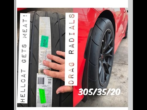 CHARGER HELLCAT gets DRAG RADIALS (Mickey Thompson 305/35/20)