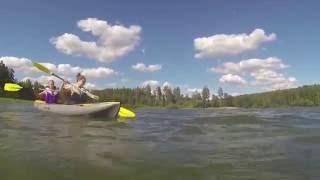 байдарка хатанга 2 на Сурском водохранилище(Букалов., 2016-07-09T13:39:54.000Z)
