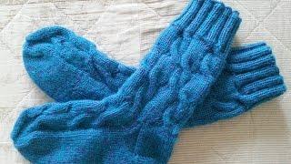Обалденные вязаные спицами носки с