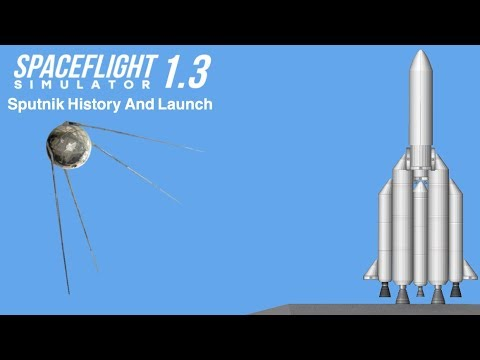Sputnik - The First Artificial Satellite || Launch and Orbit || Space Flight Simulator