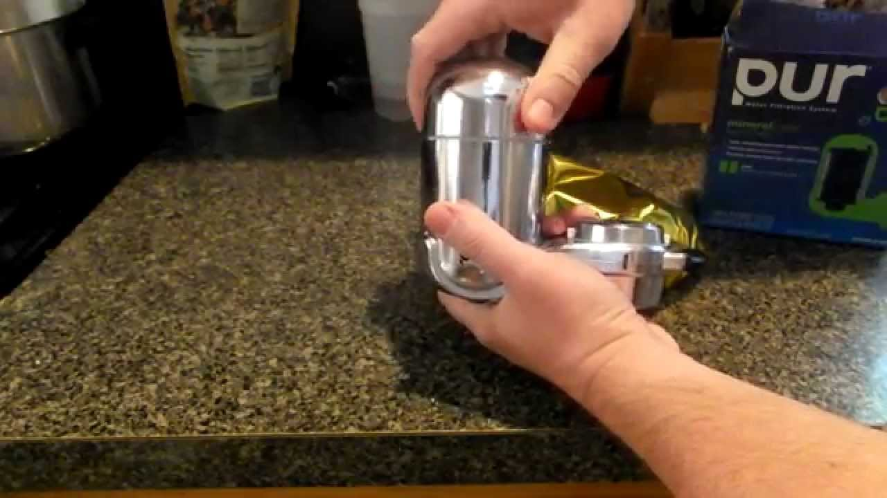 how to change the filter on the pur sink mounted water filter fm 3700b