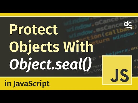 How to protect JavaScript Objects with Object.seal() - JavaScript Tutorial thumbnail