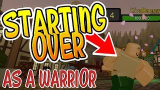 STARTING OVER AS A WARRIOR IN DUNGEON QUEST!! (Roblox)