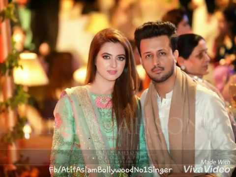 Atif Aslam With His Wife Sara At Friend Wedding Event