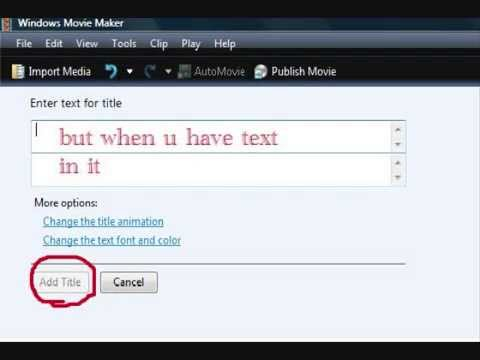 how to add text on windows movie maker